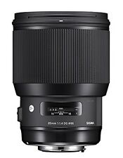Sigma 85mm F1.4 DG HSM Art - Nikon Mount Prime Portrait Lens - Black