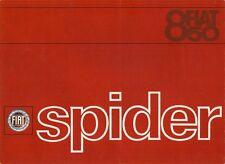 Fiat 850 spider 1966-68 marché du royaume-uni rabattable sales brochure