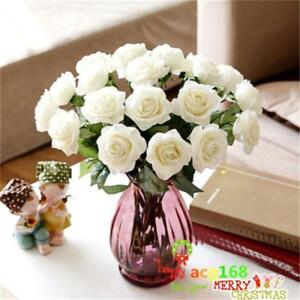 Latex Rose Flowers For Wedding Bouquet Decore Head Real Touch Birthday Xmas Gift