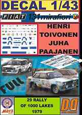 DECAL 1/43 FIAT 131 ABARTH H.TOIVONEN 1000 LAKES 1979 (FULL) (04)