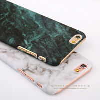 Glossy Hard Back Granite Marble Phone Case Cover For Apple iPhone 5s 6 6s 7 Plus