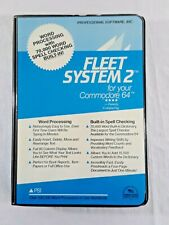 PSI Professional Software Inc 1984 Fleet System 2 Commodore 64 Word Processing