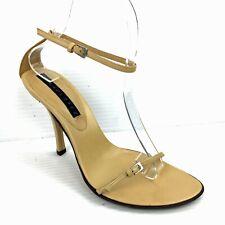 3be8c1ed4b New ListingPURA LOPEZ Tan Leather Spaghetti Ankle Strap Heels 6.5 (US) / 37  *NWOB