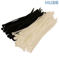 CABLE TIES - Plastic Nylon Zip Ties In All Sizes & Quantities - BLACK & WHITE UK
