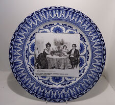 """Antique Royal Doulton Gibson Girls 10 1/2"""" Illustrated Plate 1903 A Quiet Dinner"""