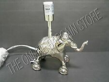 Pottery Barn Kids Baby Nursery Elephant Table Dresser Lamp Light Silver BASE