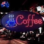 Flashing LED Sign Coffee Cafe 48x24cm Shop Signboard Logo Light ESIGN4805