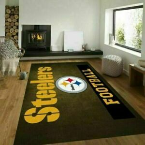 Pittsburgh Steelers Football Team AFC North Area Rug US Decor, Best Gift For Fan