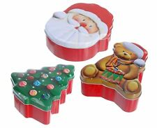 Christmas Design Food Storage Biscuit Cookie Gingerbread Mince Pie Tin