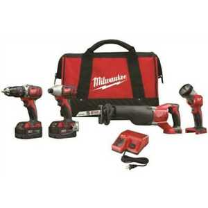 Milwaukee  2696-24 M18™ Cordless LITHIUM-ION 4-Tool Combo Kit NEW in the retail