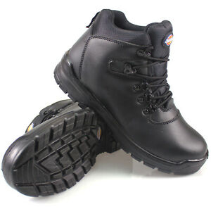 MENS DICKIES FURY LEATHER SAFETY SHOES WORK HIKER ANKLE BOOTS STEEL TOE CAP SIZE