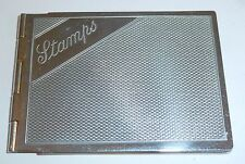 AN ART DECO CHROME PLATED STAMP CASE