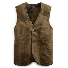 RRL Ralph Lauren Thick Camo Fleece Lined Jersey Vest-MEN- M