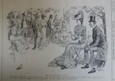 "7x10"" punch cartoon 1903 A GARDEN PARTY IN KENSINGTON"