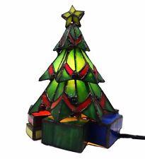 Meyda Tiffany Christmas Tree Accent Lamp w/ 1 Light 9 Inches Tall