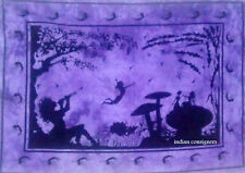 Indian Wonderful Purple Colour Tree Of Life Design Picture Small Tapestry Poster