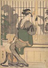 Shadows on the Shoji KITAGAWA UTAMARO Japan, 1700's, ukiyo-e poster