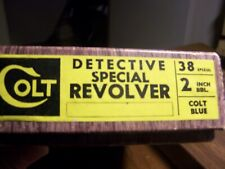 Colt Detective Special Revolver box & paperwork, free shipping.