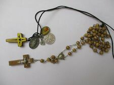 Rosaries Cross Necklace Relic Religious Jewelry vintage collection lot  silver