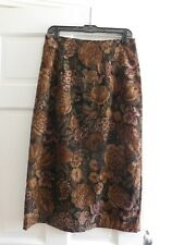 BRIGGS SKIRT, LONG 10 -10P,  SLIMMING, EXC COND. BROWNS