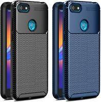 For Motorola Moto E6 Play, XT2029 Shockproof TOUGH Carbon Fibre Phone Case Cover