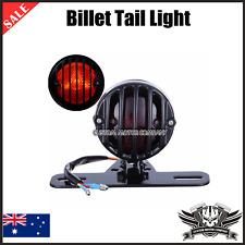 Black License Plate Tail Light Harley Sportster XL 883 Bobber Chopper cafe racer