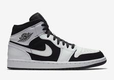 "New Men's Air Jordan 1 Mid Retro ""Tuxedo"" Shoes (554724-113)  White / Black"