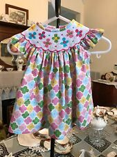 Cukees Smocked Floral Print Infant Girls Dress size 6 months