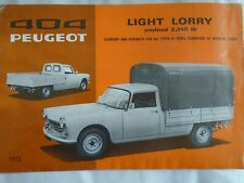 Peugeot 404 Light Lorry brochure 1972 English text