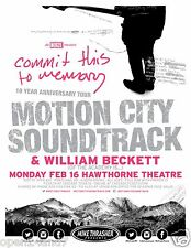 """MOTION CITY SOUNDTRACK """"COMMIT THIS TO MEMORY TOUR"""" 2015 PORTLAND CONCERT POSTER"""