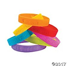 24 ~  I Love Math Sayings Rubber Bracelets Birthday Party Favors Treasure Box