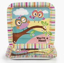 YOURE A HOOT OWL Lunch Plates Dinner Plates Large Plate  Birthday Party
