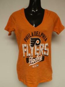 New Philadelphia Flyers Hockey Womens Size S Small Orange Shirt