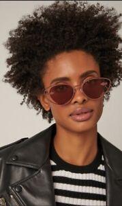 Karen Walker Kissy Kissy Women Sunglasses | Rose Gold, Metal,Aubergine, $350 RRP