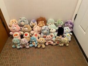 Lot Of 20 Care Bears And Care Bear Cousins Plush Stuffed Vintage 13 and 6 inch