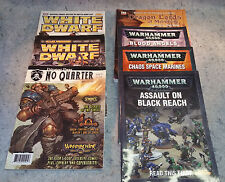 Warhammer 40k Blood Angels, Chaos space marines codex, black reach, and WD lot