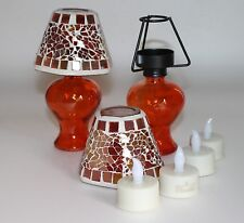 deko kerzen teelichter mit orangen elambia g nstig kaufen ebay. Black Bedroom Furniture Sets. Home Design Ideas