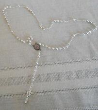 Ferlon 18k white GF rosary