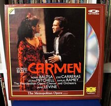 BIZET - Carmen / 2 Laser Disc Set / James Levine  Agnes Baltsa Jose Carreras LD