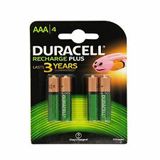 4 Duracell AAA 750 MAh Rechargeable Batteries NiMH ACCU LR03 HR03 MN2400 Phone
