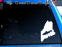 Maine Brook Trout Fishing State Vinyl Decal Sticker / Color - HIGH QUALITY