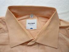 E7845 Olymp Tendenz Businesshemd Kombimanschette 43 apricot meliert glänzend Uni