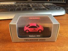 1/87 Scale 'HO' Wiking VW Beetle (New) - Telekom 2000 - Pink - Boxed