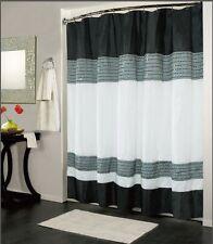 black and white shower curtain set. Kashi Home IBIZA Shower Curtain 70x72 Black White NWOP Striped Sets  eBay