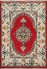 Vintage Geometric Nain Area Rug Wool Hand-knotted Oriental Carpet 2'x2' Square
