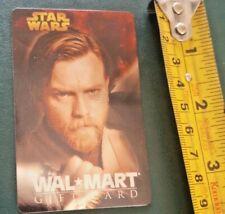 New Star Wars Walmart Reloadable Gift Card Ewan McGregor Obi-Wan Kenobi