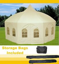 20'x20 Octagonal Party Wedding Gazebo Tent Canopy Shade