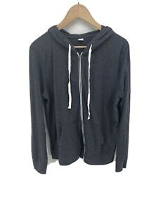 Old Navy Relaxed Lightweight Gray Full Zip Hoodie sweatshirt size large