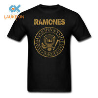 The RAMONES T-shirt Vintage Punk Rock Classic Logo Adult Mens Black New