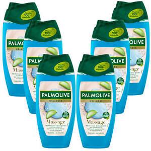 6x 250ml Palmolive Wellness Massage Duschgel mit Meersalz und Aloe Extrakt